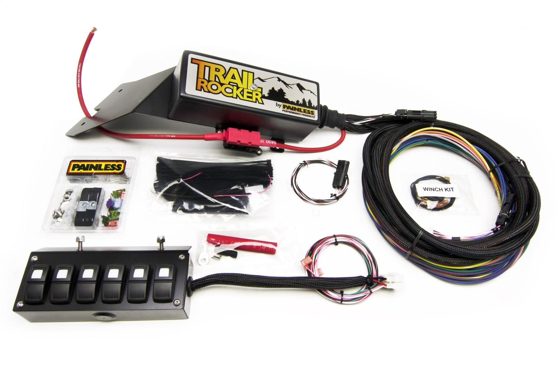 Painless 57022 Trail Rocker System Jeep CJ 1976-86 w/Underdash 6 Switch Box
