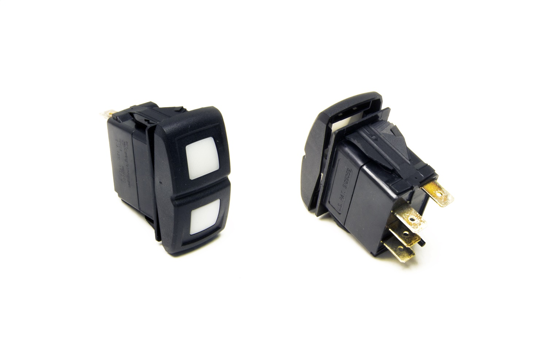 Painless 57052 Rocker Switch - LED Weatherproof On/Off/On Switch