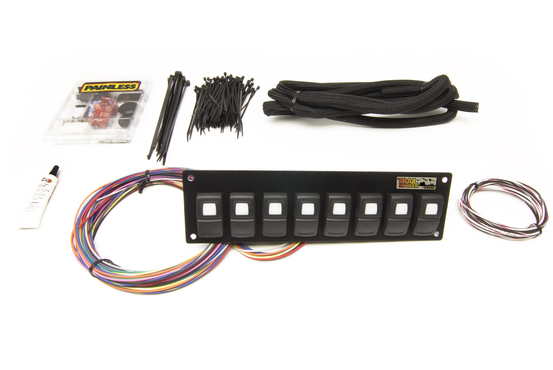 Painless 57101 Trail Rocker 8-Switch Panel - Dash Mount