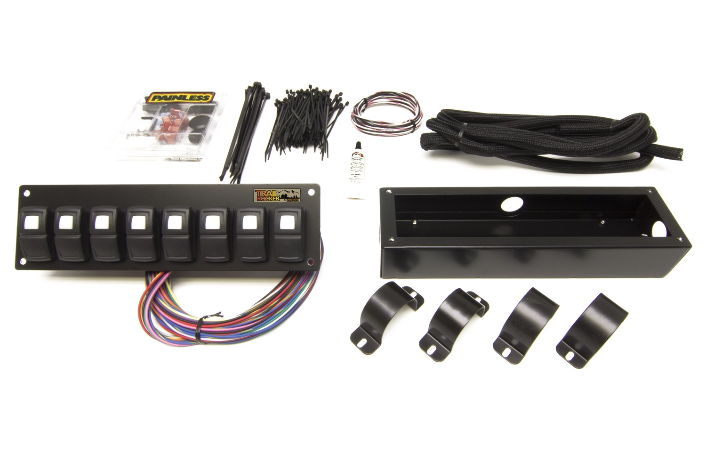 Painless 57102 Trail Rocker 8-Switch Panel - Roll Bar Mount