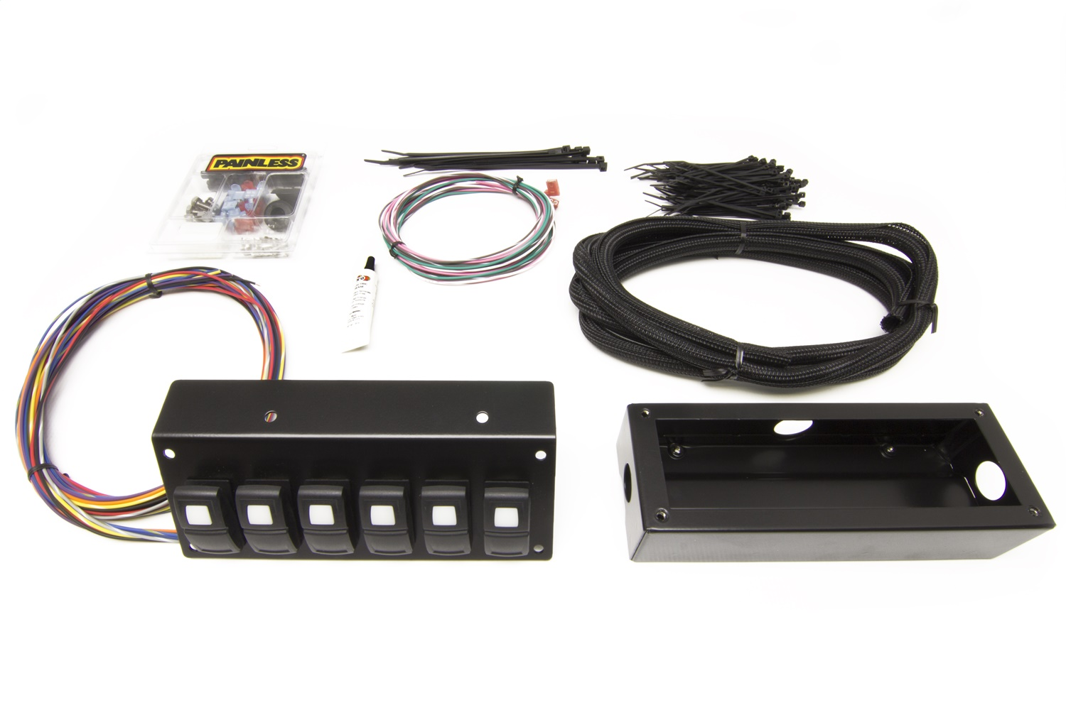 Painless Wiring 58106 Track Rocker 6-Switch Panel