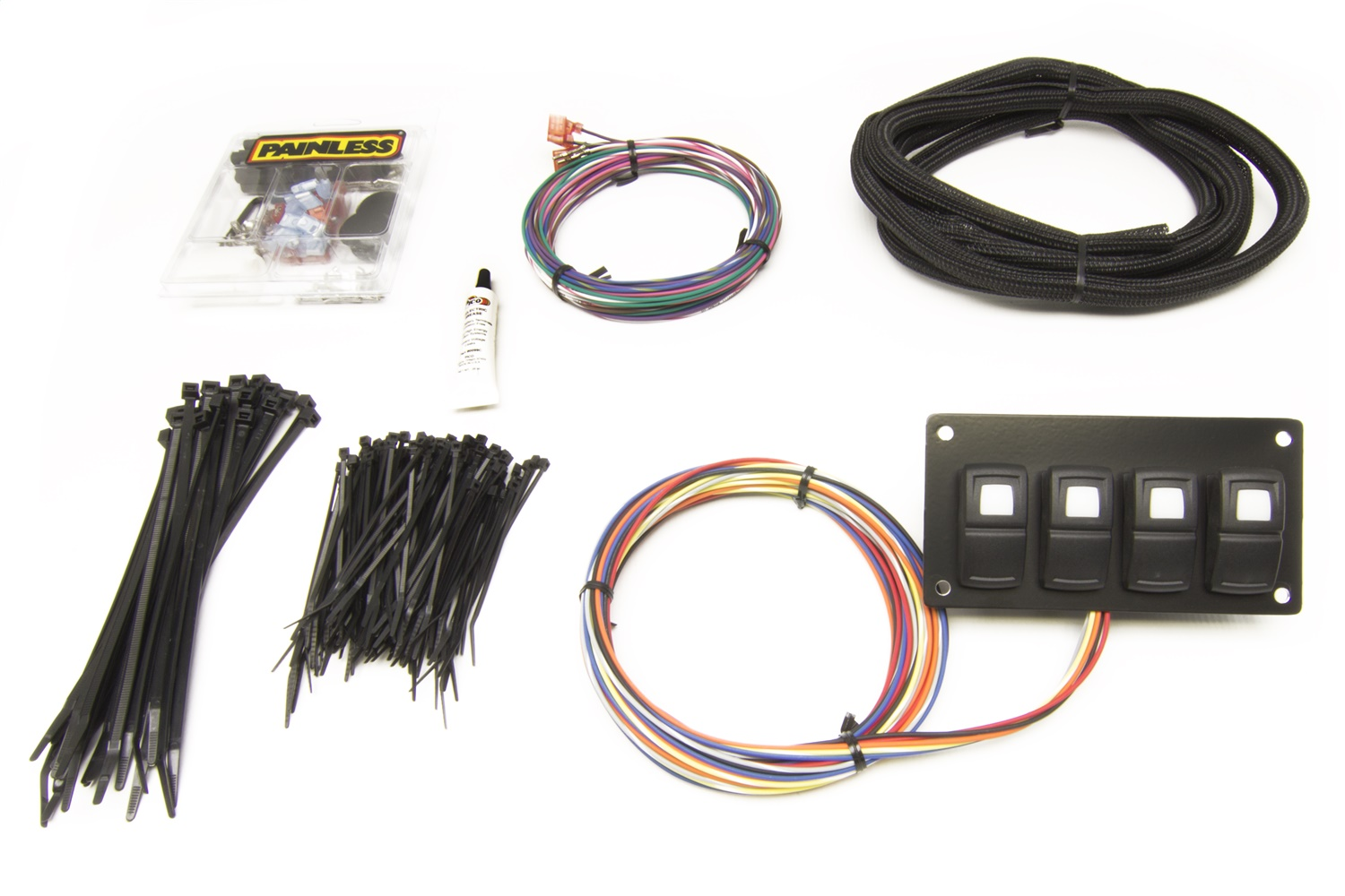 Painless Wiring 58107 Track Rocker 4-Switch Panel