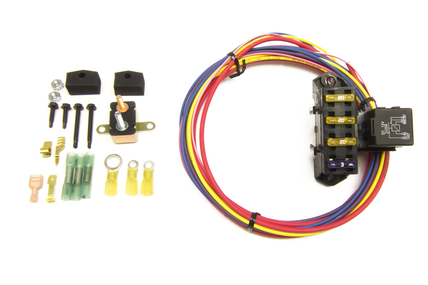 Painless Wiring 70103 3-Circuit Auxiliary Fuse Block