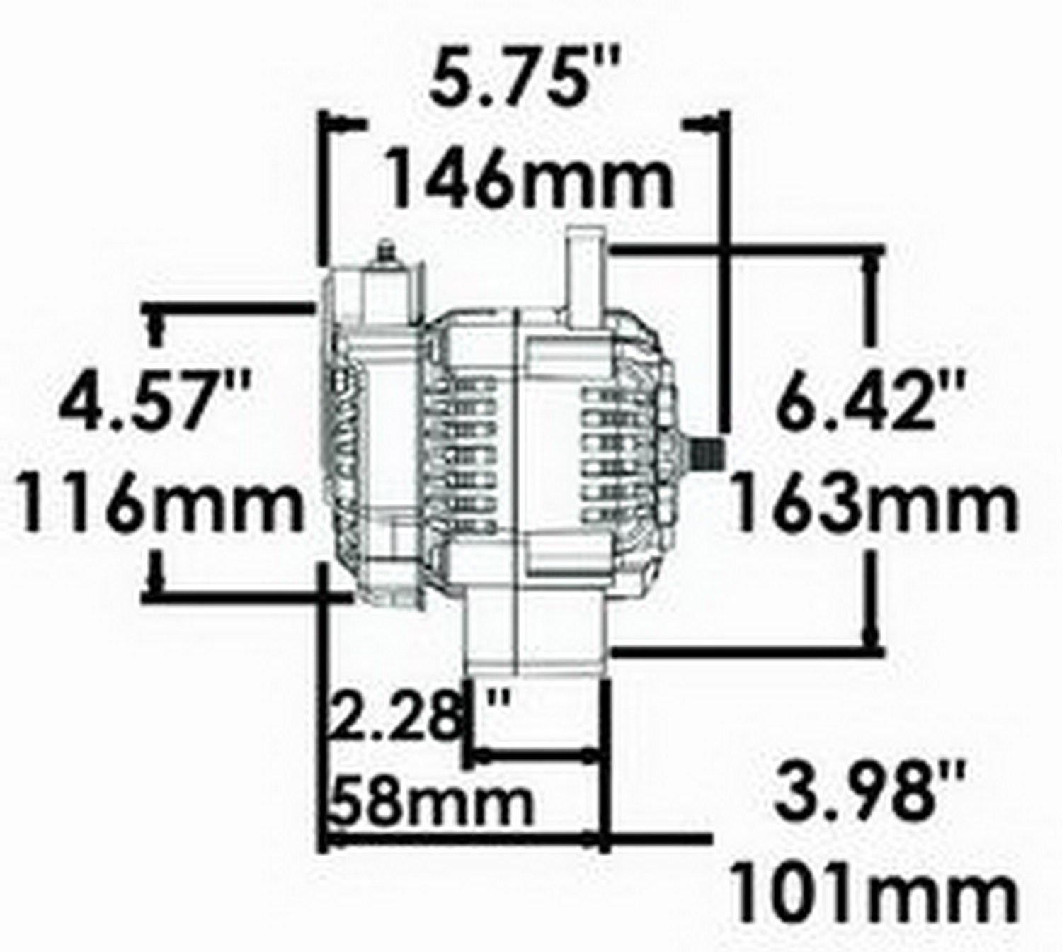 Powermaster 8132 Denso Racing Alternator Ebay One Wire Diagram