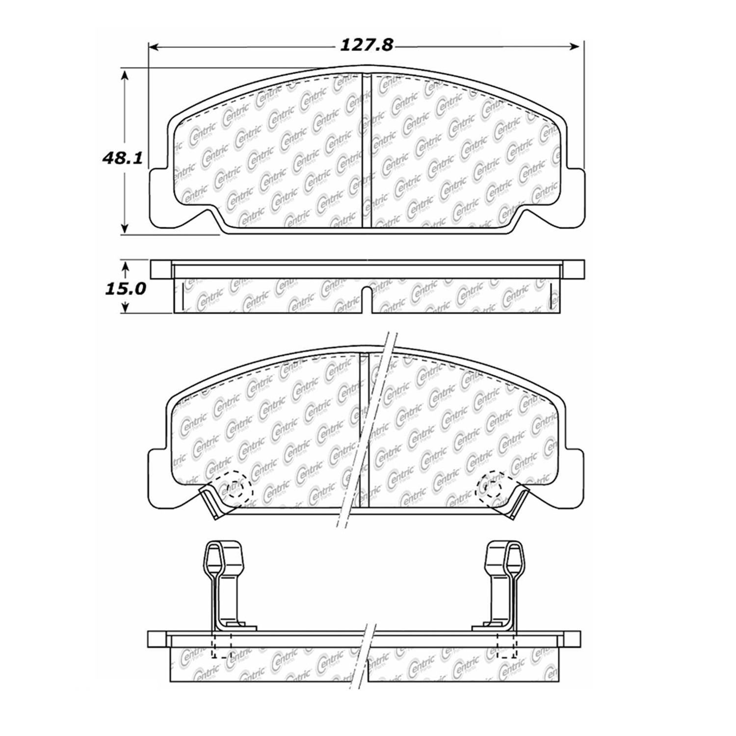 StopTech 104.02730 Disc Brake Pad Fits 90-00 Civic Civic del Sol CRX