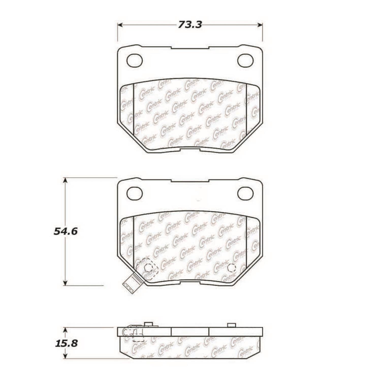 StopTech 104.04611 Disc Brake Pad Fits 06-07 Impreza