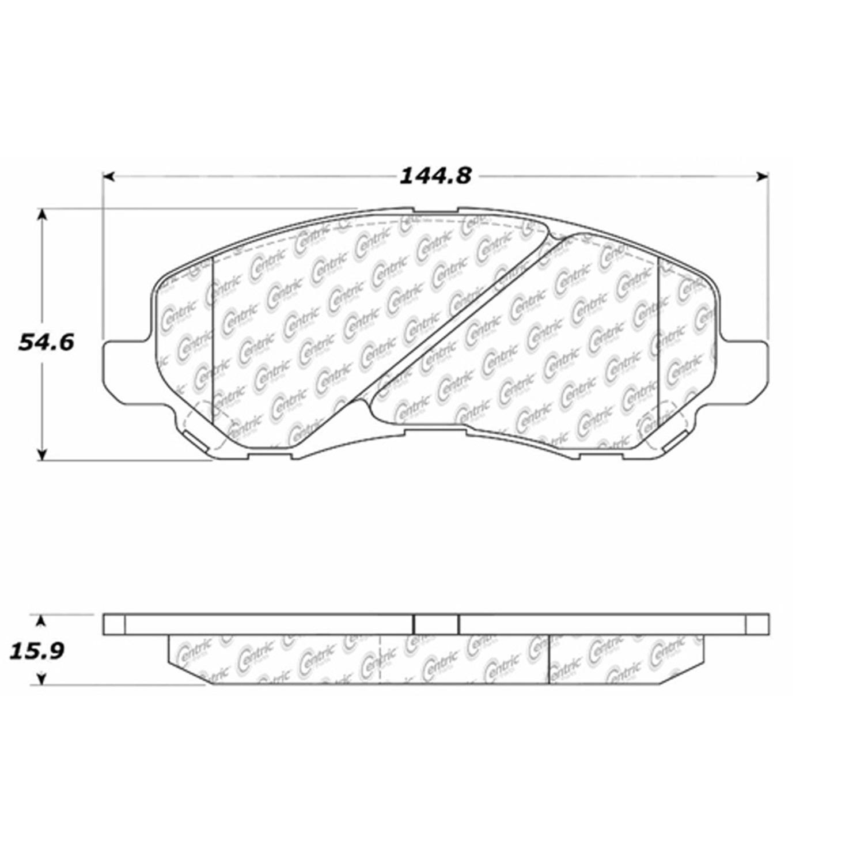 StopTech 104.08660 Disc Brake Pad