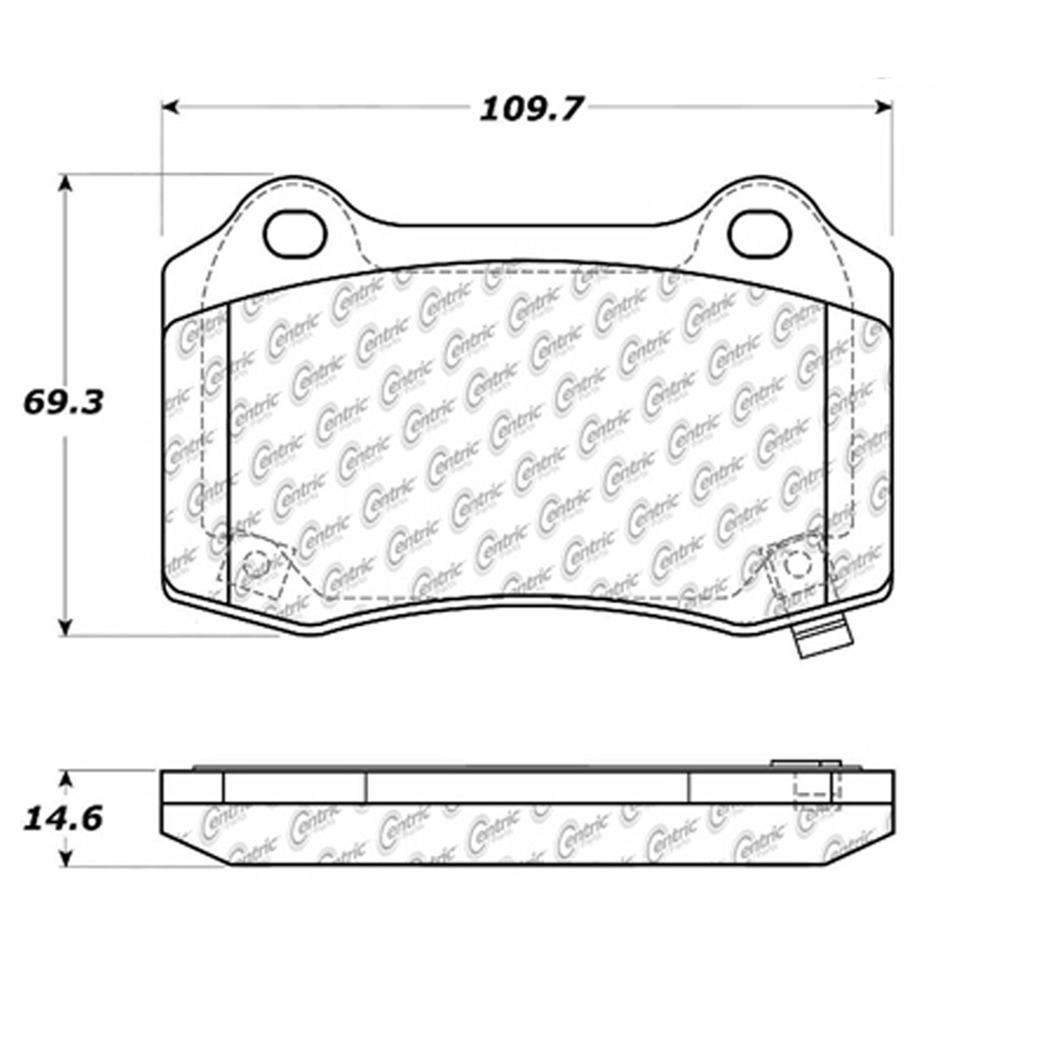 StopTech 104.10530 Disc Brake Pad