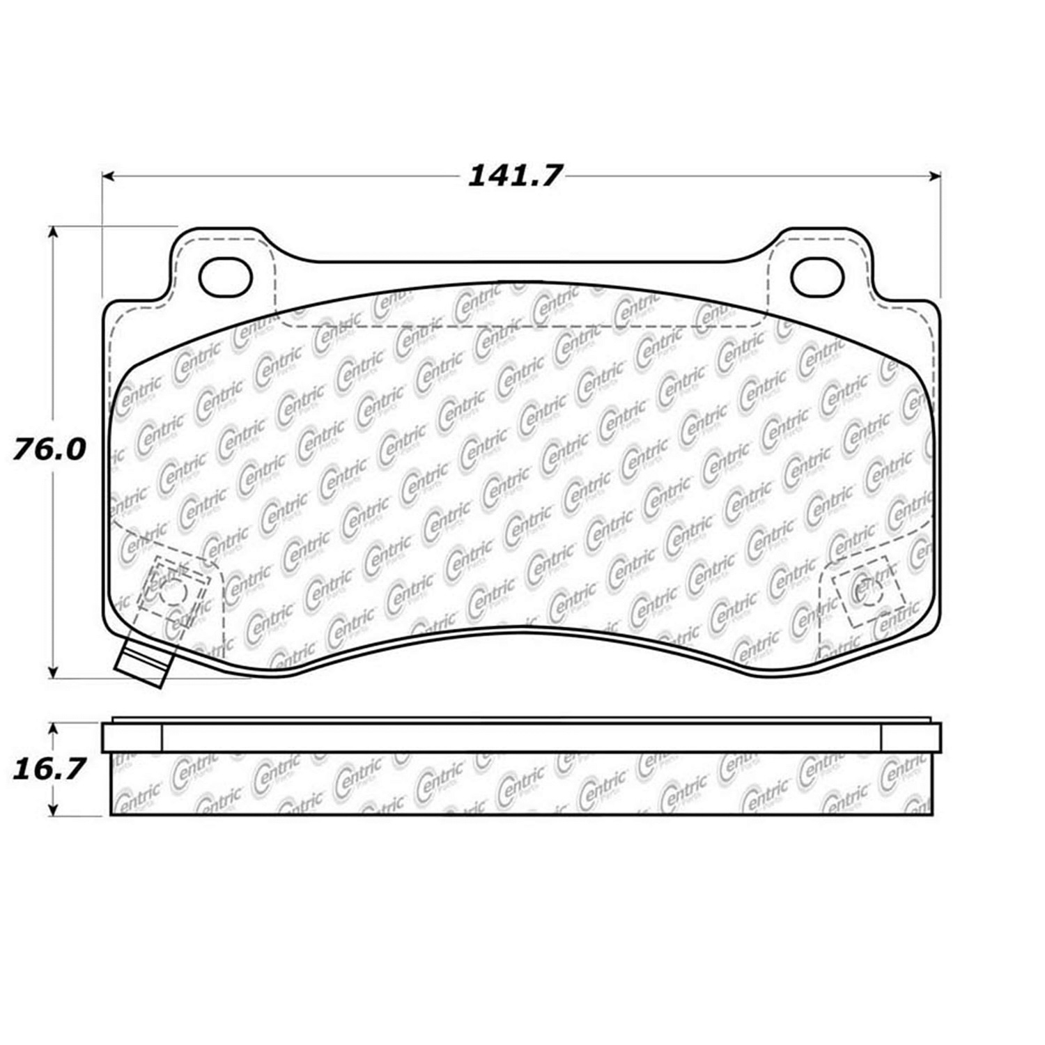 StopTech 104.11490 Disc Brake Pad