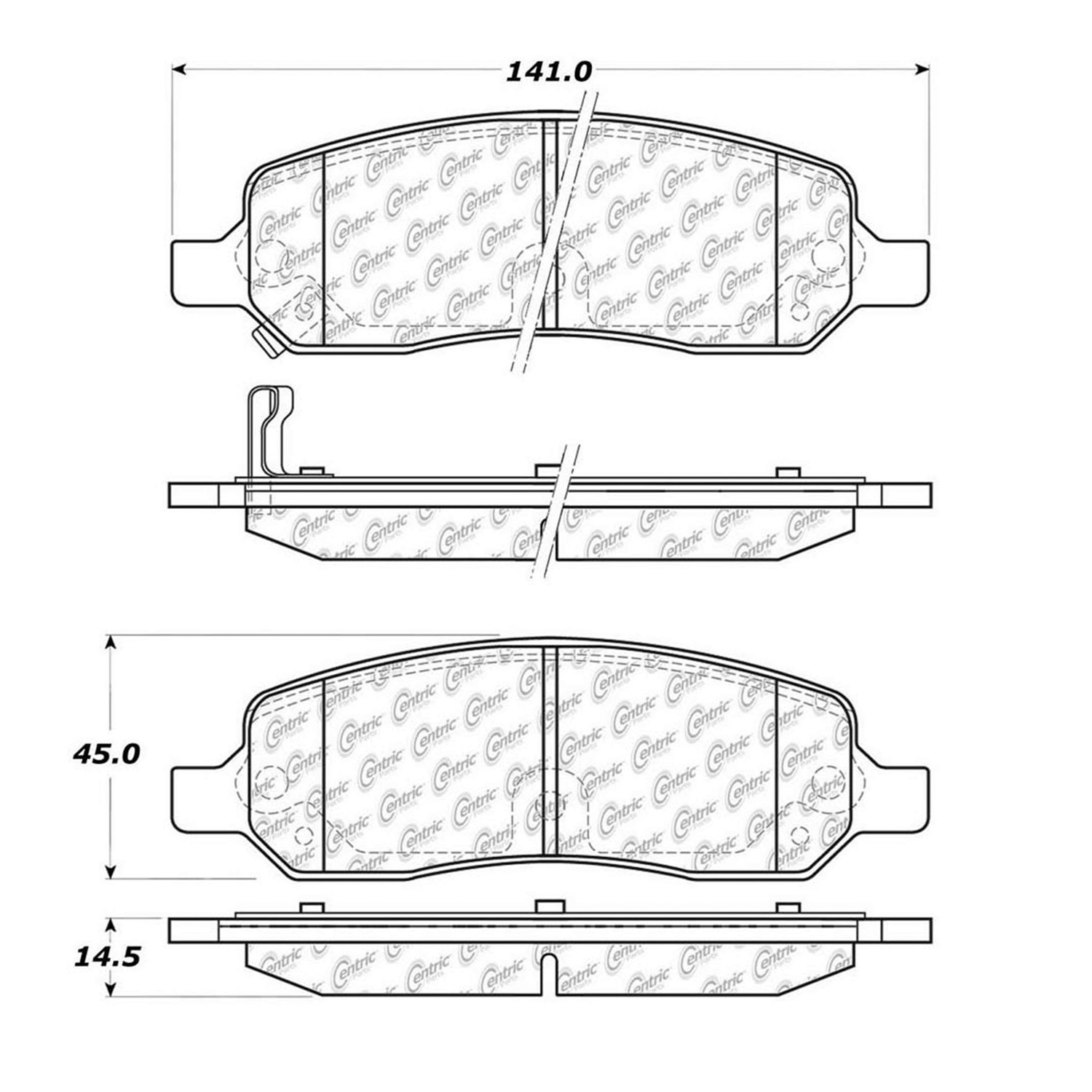 StopTech 104.11720 Disc Brake Pad Fits 06-11 DTS Lucerne