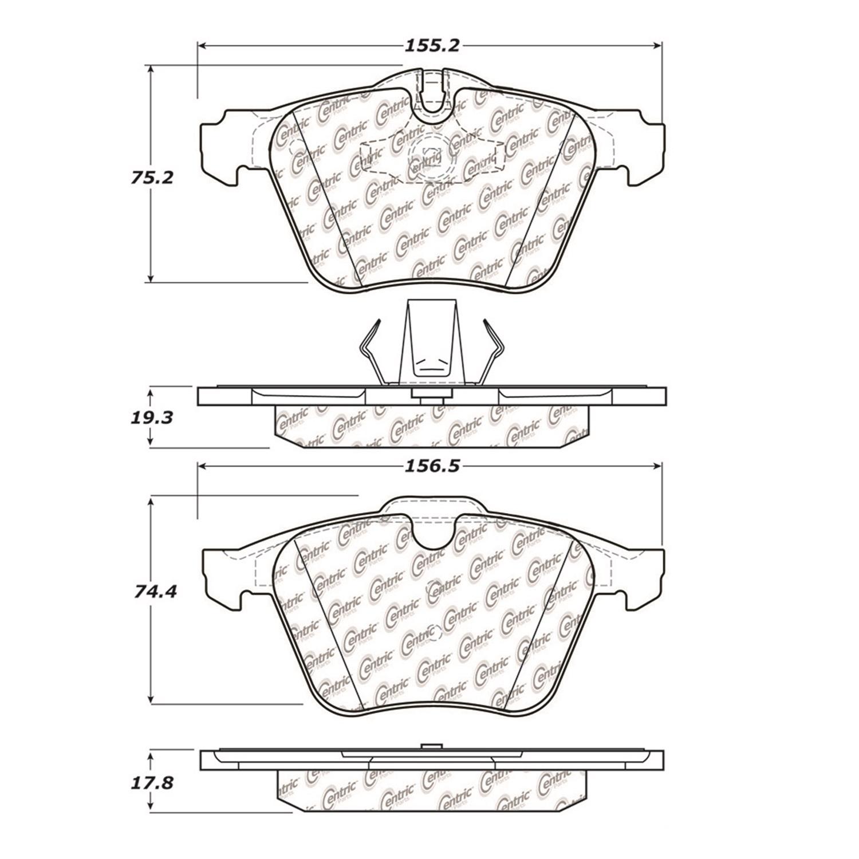 StopTech 104.12400 Disc Brake Pad Fits 06-11 S-Type XF XJ XJR XK XKR