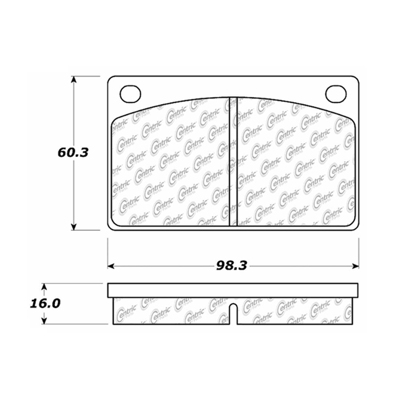 StopTech 105.00430 Disc Brake Pad