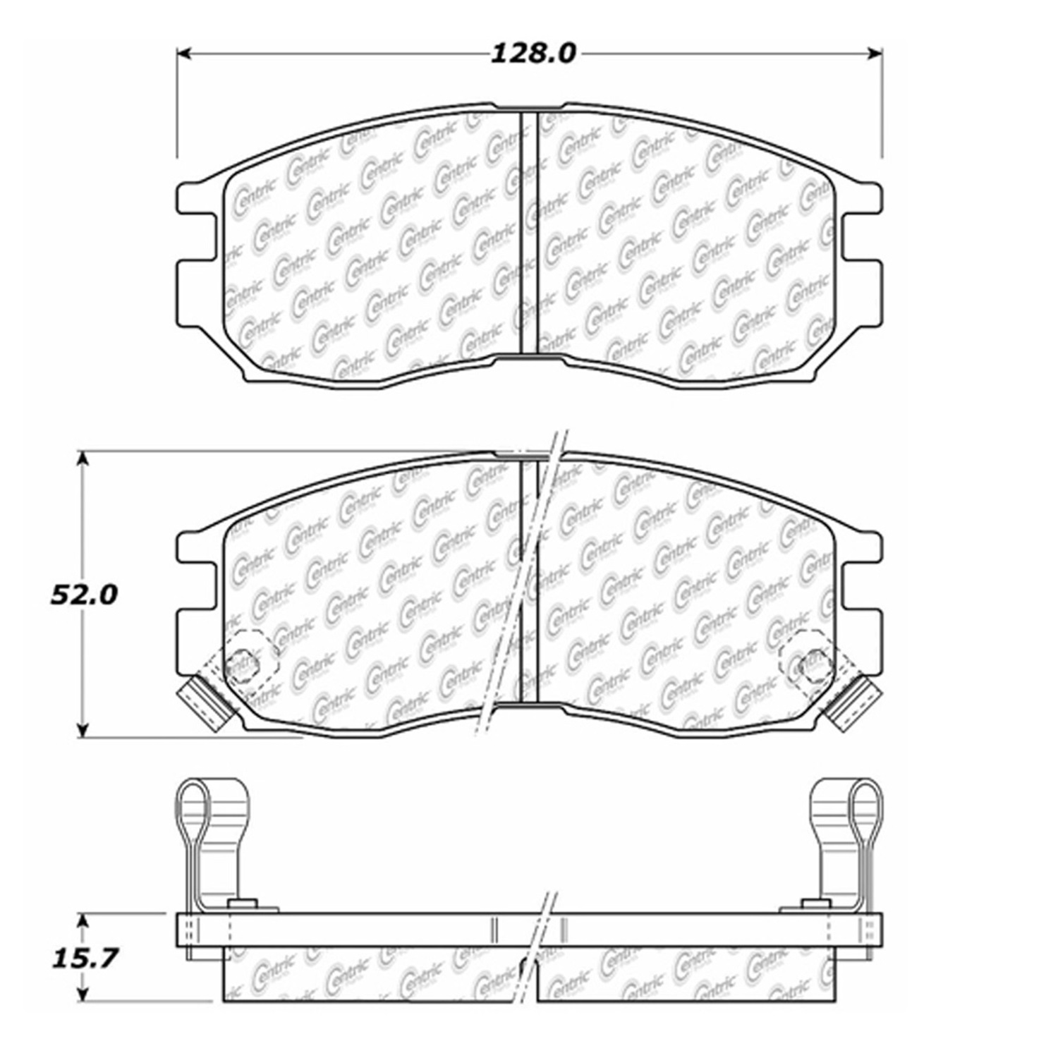 StopTech 105.04840 Disc Brake Pad