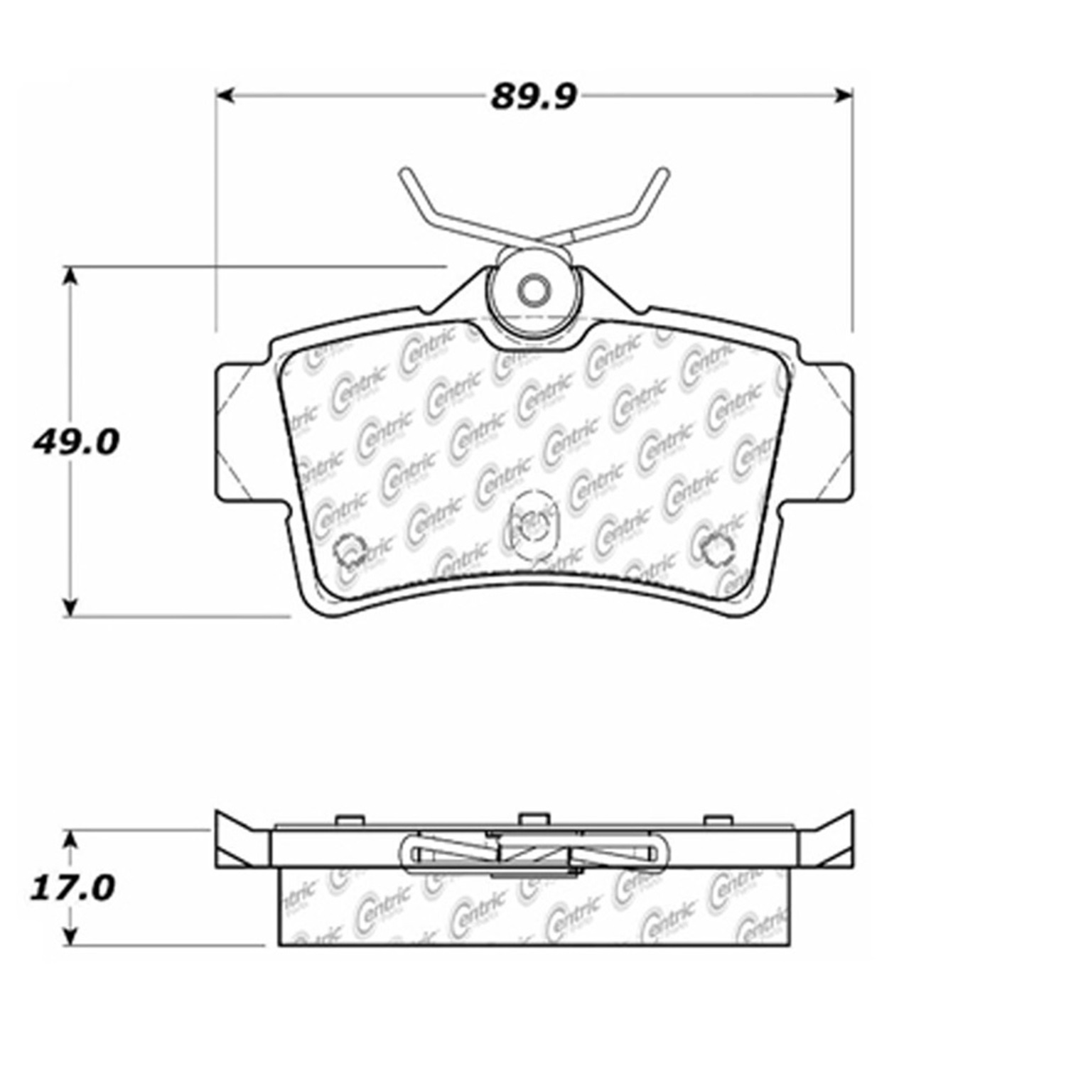 StopTech 105.06270 Disc Brake Pad Fits 94-04 Mustang