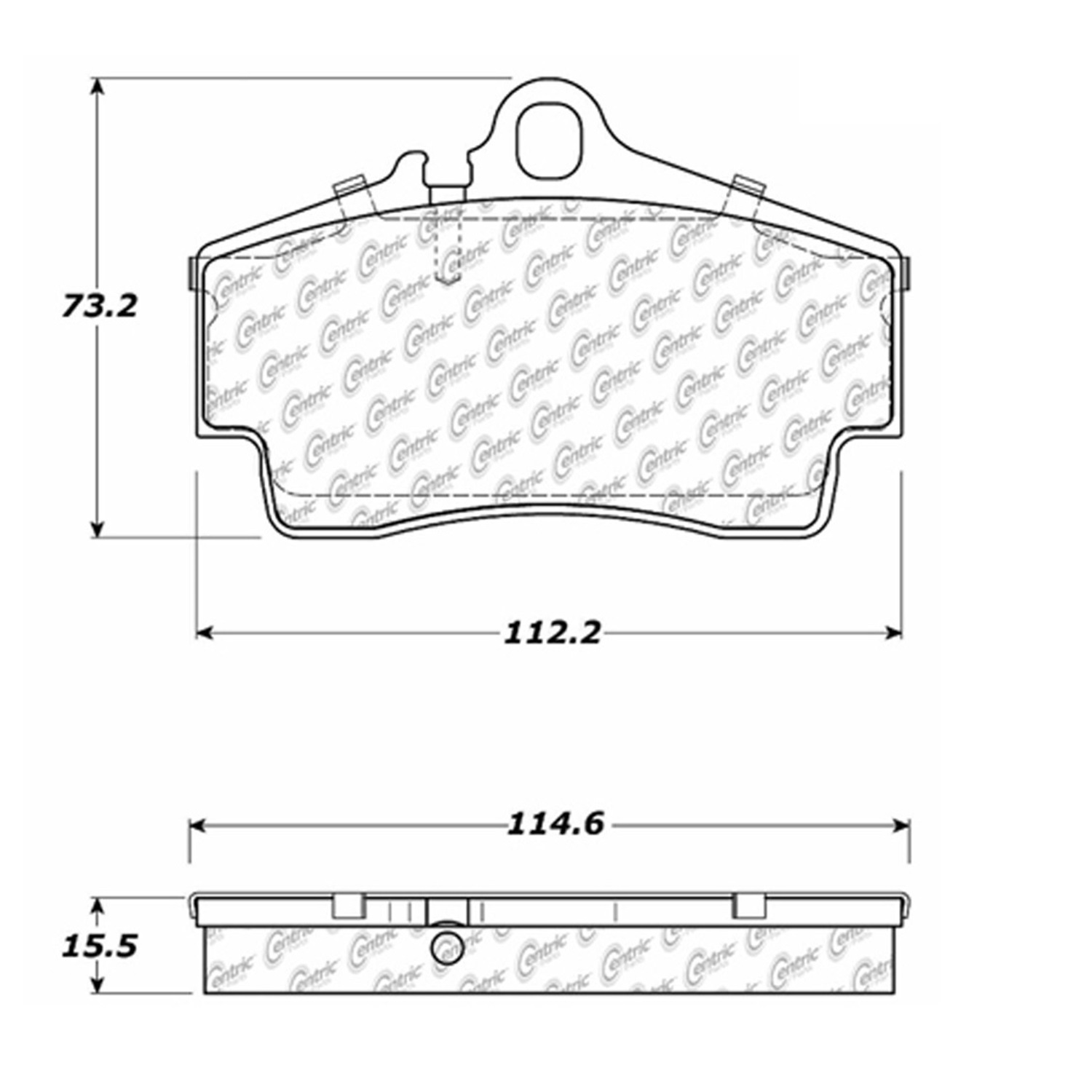 StopTech 105.07380 Disc Brake Pad Fits 98-10 911 Boxster Cayman