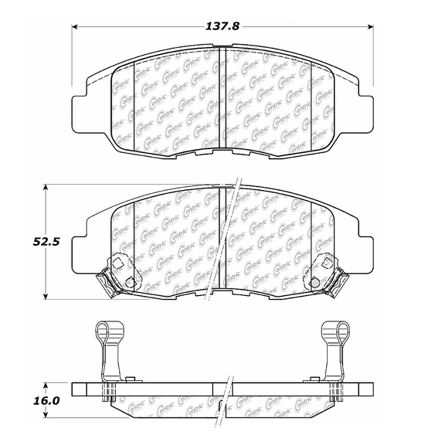 StopTech 105.07640 Disc Brake Pad Fits 96-11 Civic Insight