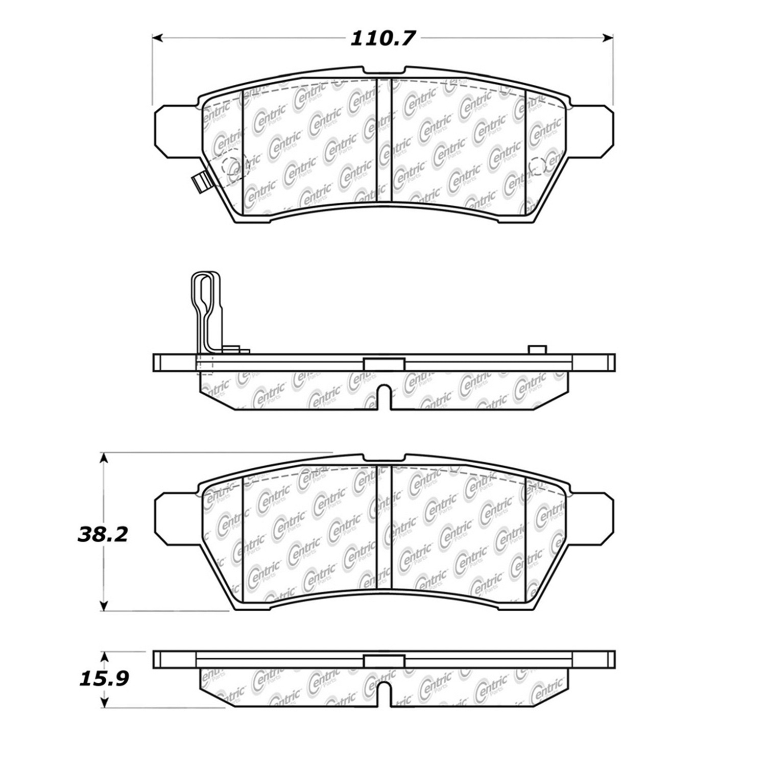 StopTech 105.11000 Disc Brake Pad Fits 05-10 Equator Frontier Xterra