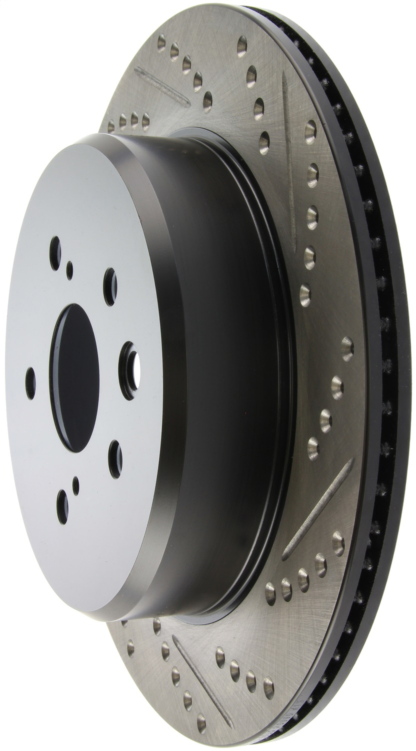 Disc Brake Rotor-Sport Drilled//Slotted Disc Front Left Stoptech 127.42004L