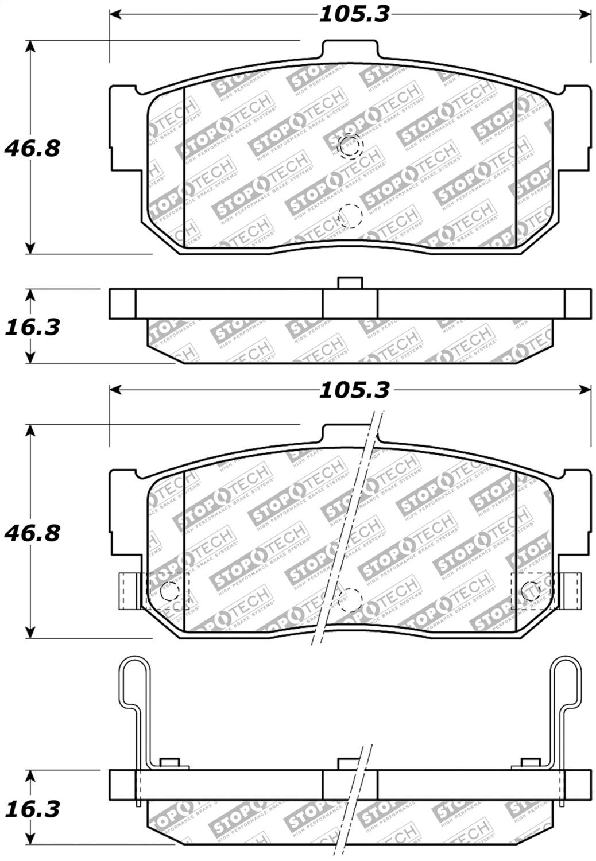 StopTech 305.05550 Street Select Brake Pads
