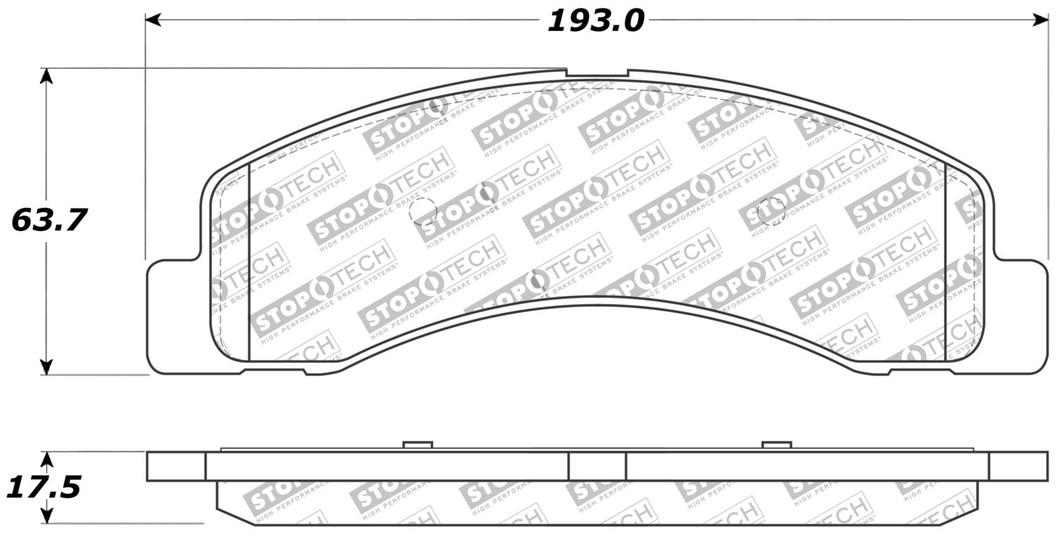 Disc Brake Pad Centric 309.07560
