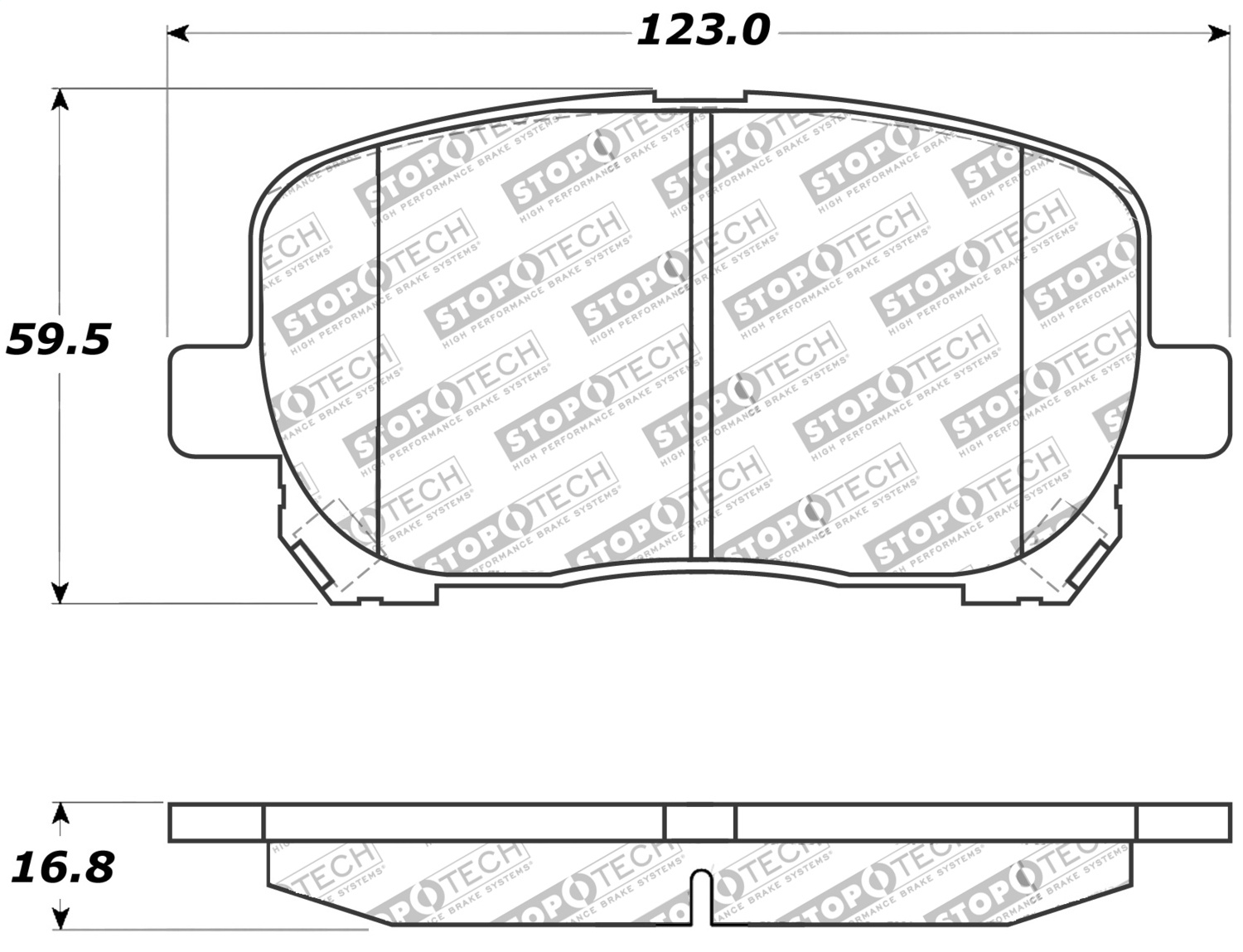 309.09230 FRONT SET Stoptech Street Performance Disc Brake Pads High Friction