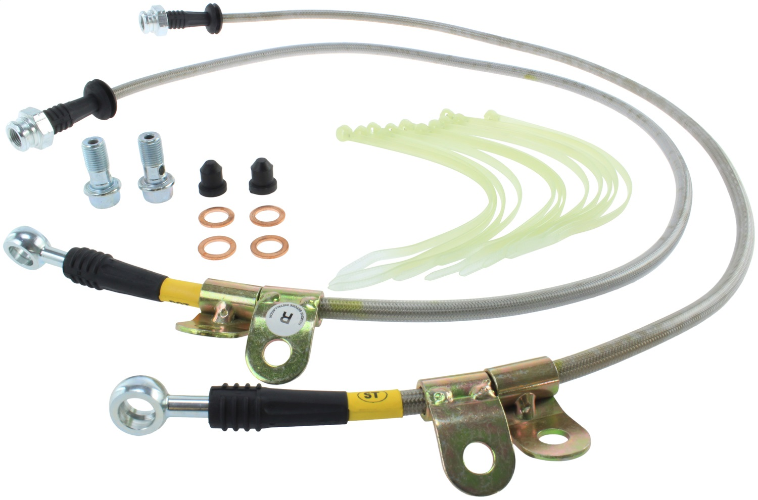 StopTech 950.22000 Stainless Steel Braided Brake Hose Kit Fits 05-09 LR3