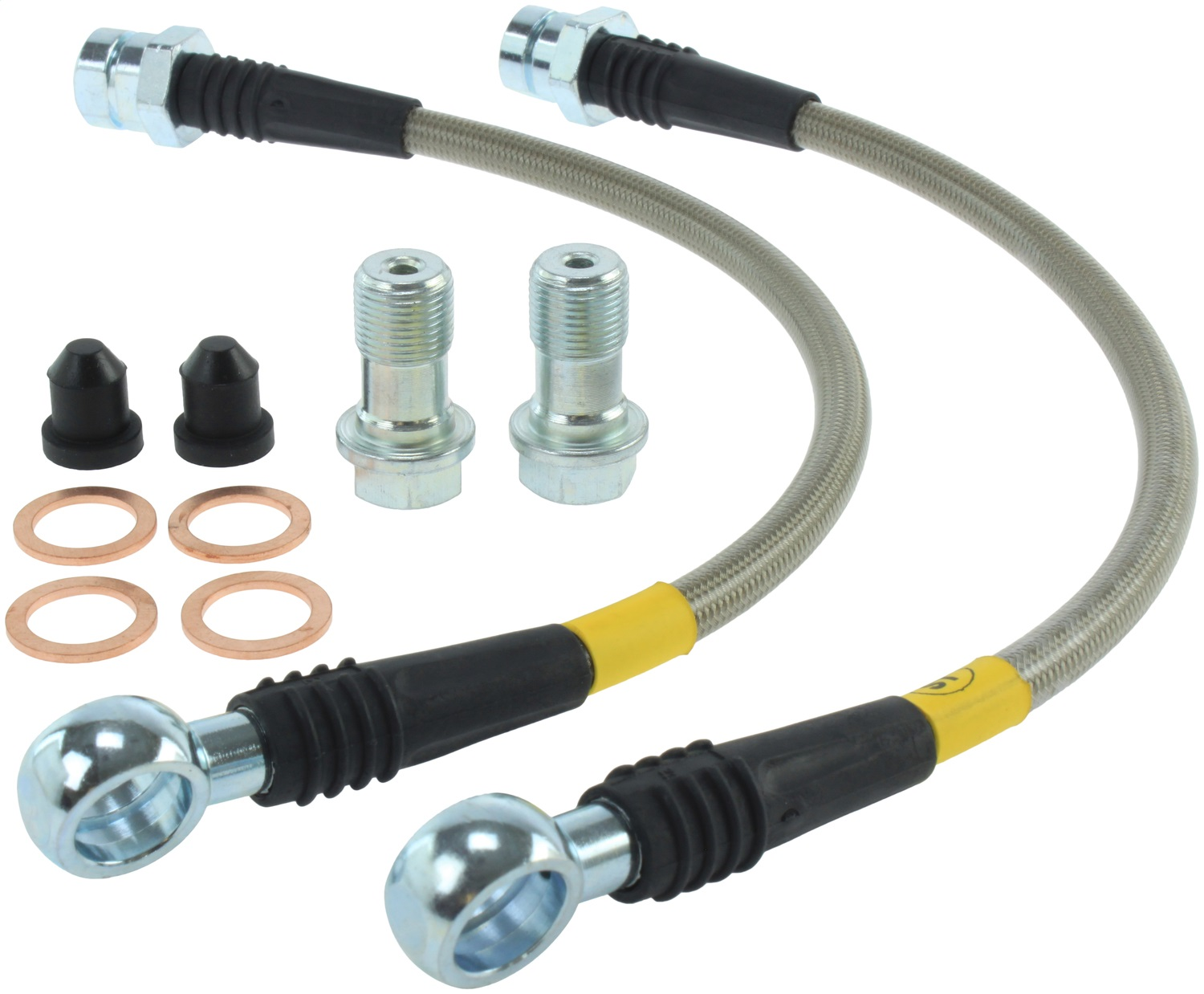StopTech 950.33522 Stainless Steel Braided Brake Hose Kit Fits 15-17 GTI
