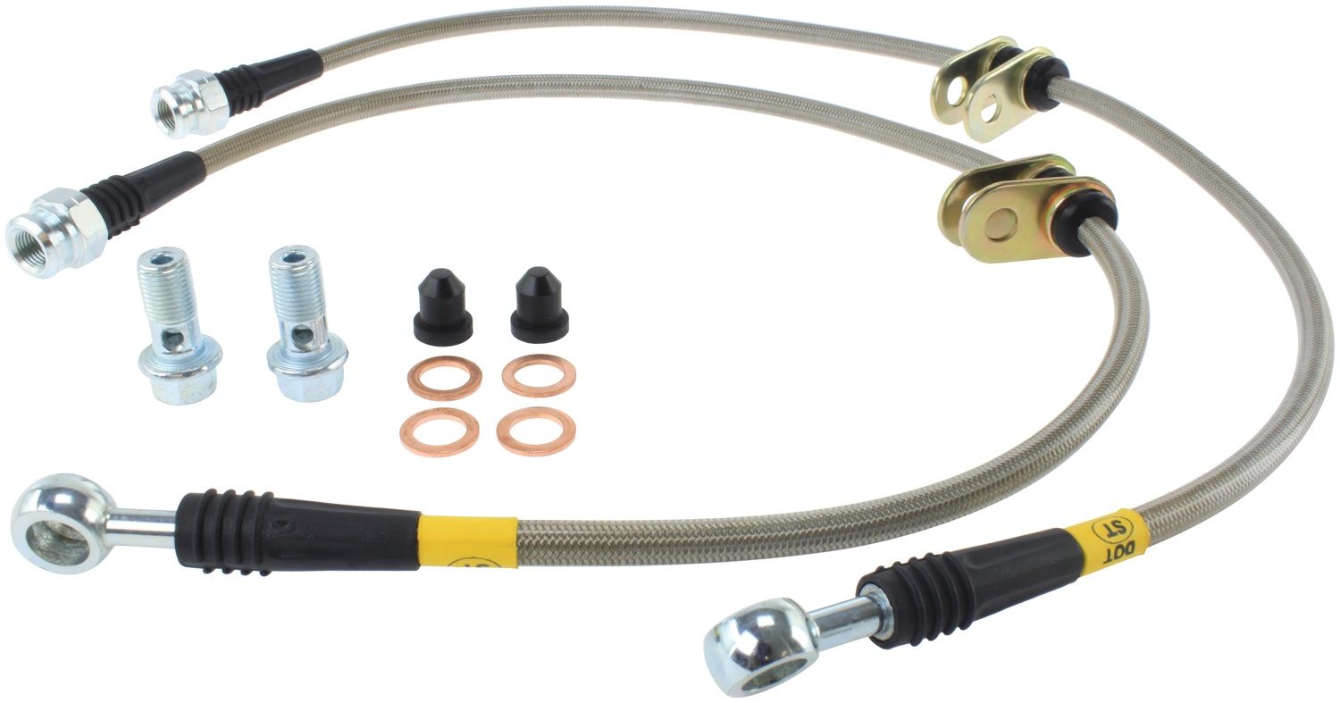 StopTech 950.40008 Stainless Steel Braided Brake Hose Kit Fits 00-05 S2000