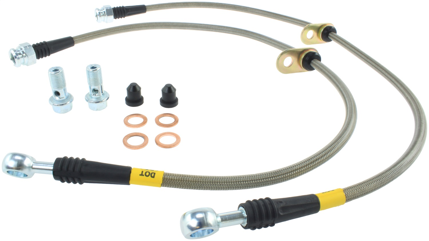 StopTech 950.40011 Stainless Steel Braided Brake Hose Kit Fits Civic CSX ILX