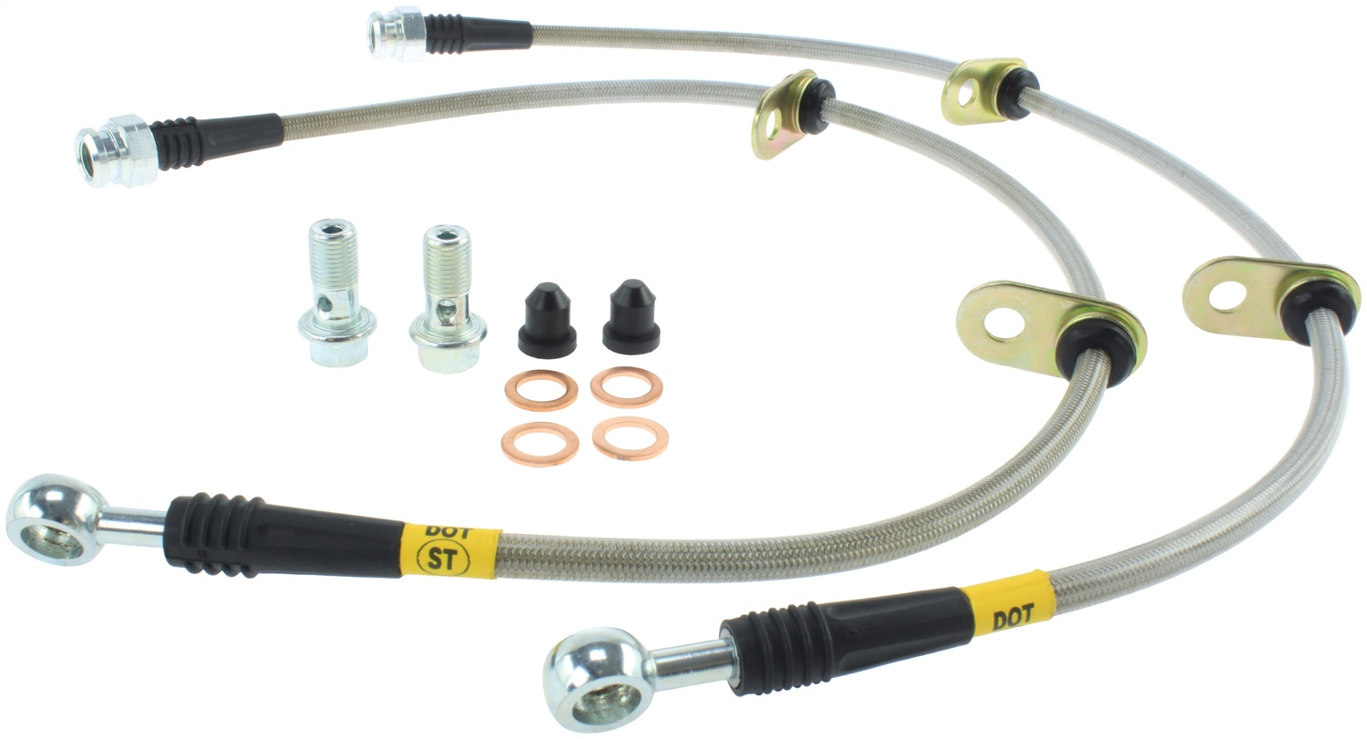 StopTech 950.40504 Stainless Steel Braided Brake Hose Kit Fits 90-93 CRX Integra