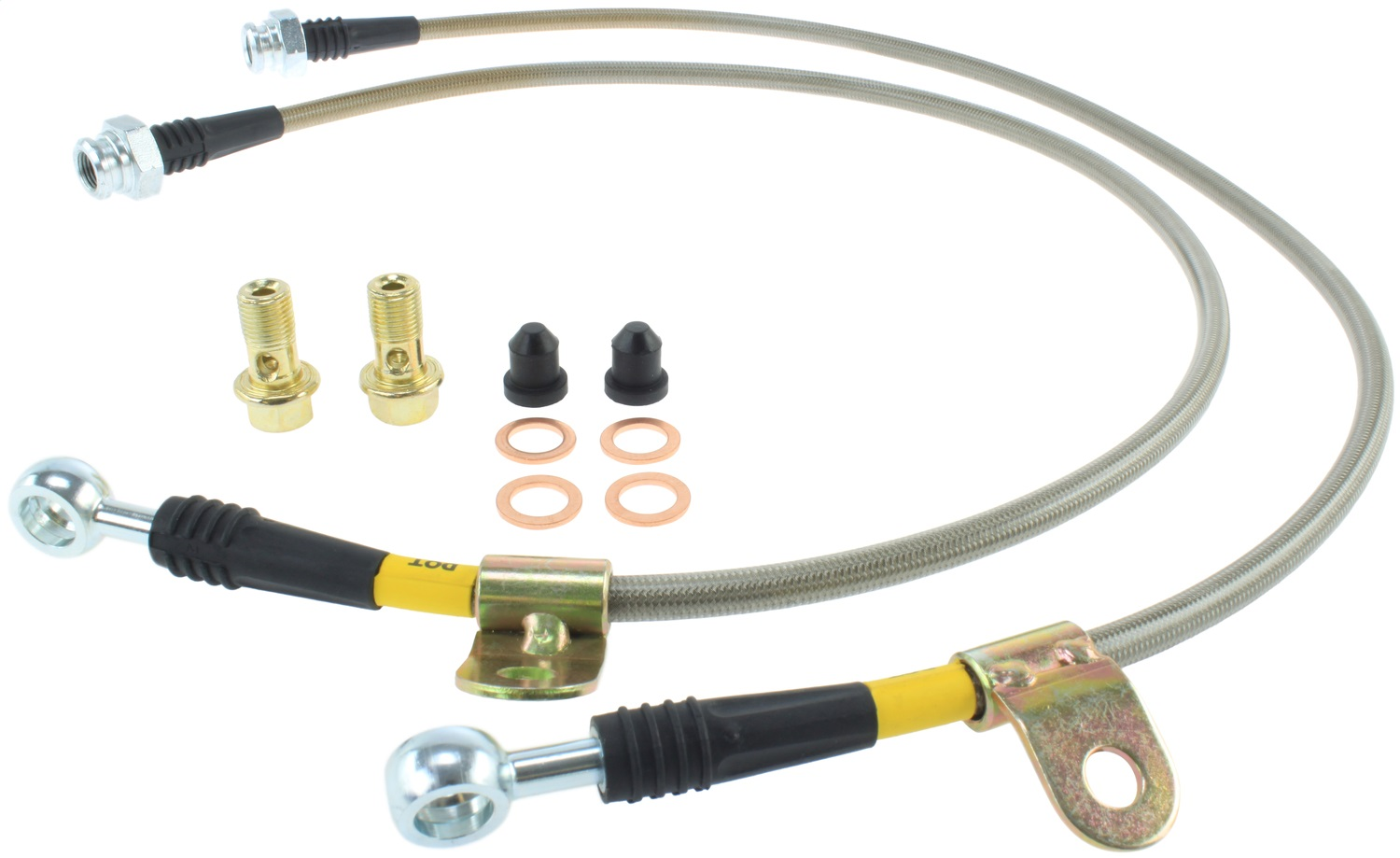 StopTech 950.42004 Stainless Steel Braided Brake Hose Kit Fits 03-08 350Z G35