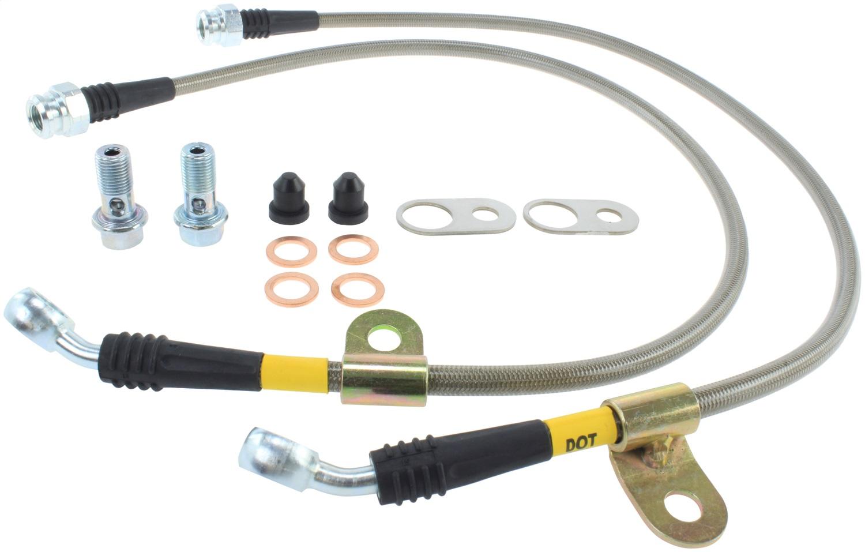 StopTech 950.45007 Stainless Steel Braided Brake Hose Kit Fits 06-15 MX-5 Miata