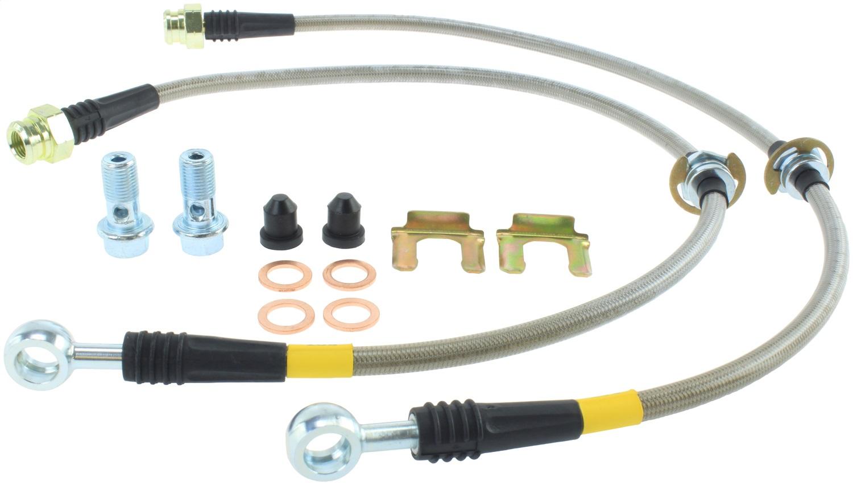 Pro Braking PBR0067-TBL-SIL Rear Braided Brake Line Transparent Blue Hose /& Stainless Banjos