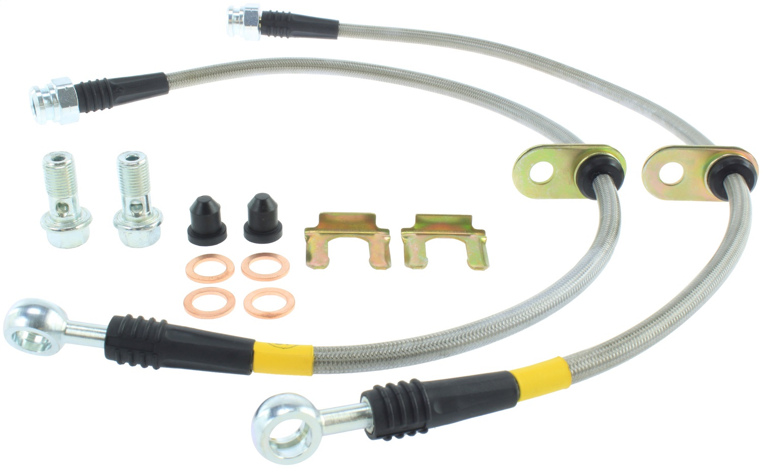 StopTech 950.47005 Stainless Steel Braided Brake Hose Kit Fits 00-09 Legacy