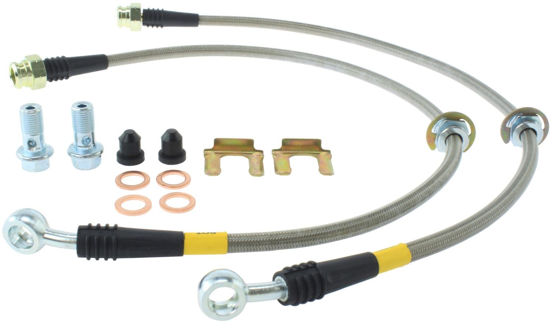 StopTech 950.47501 Stainless Steel Braided Brake Hose Kit Fits 9-2X Impreza