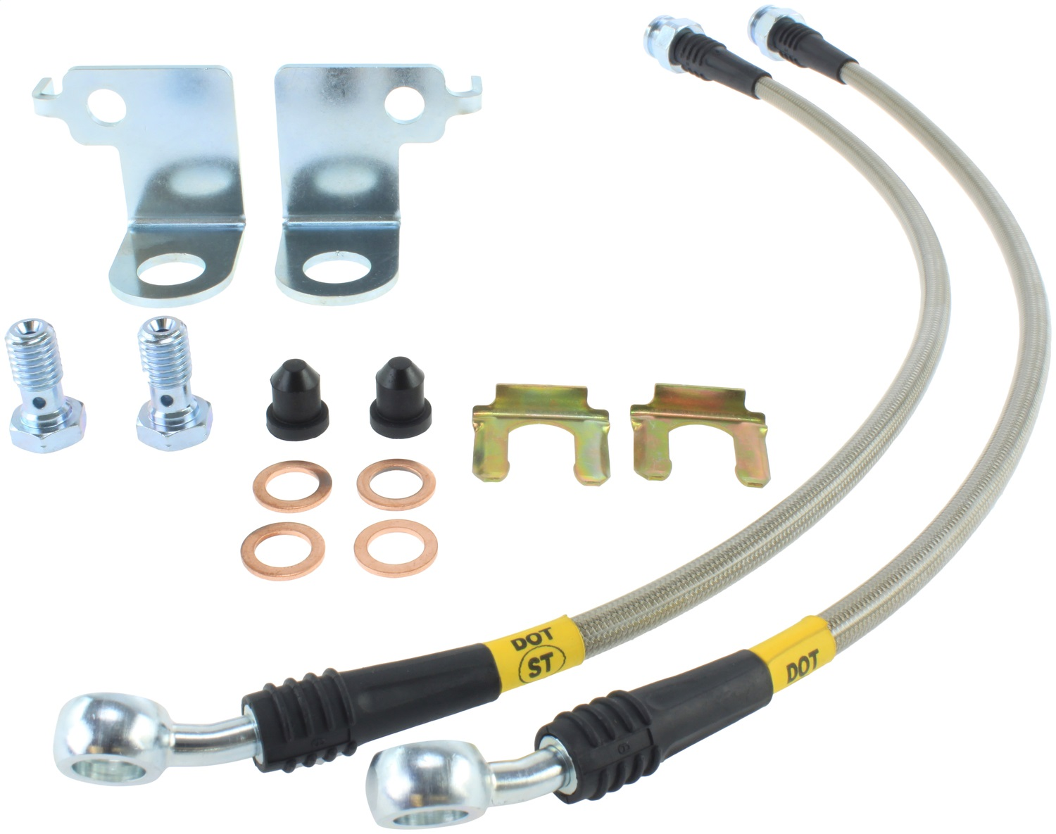 StopTech 950.61023 Stainless Steel Braided Brake Hose Kit Fits 15-18 Mustang