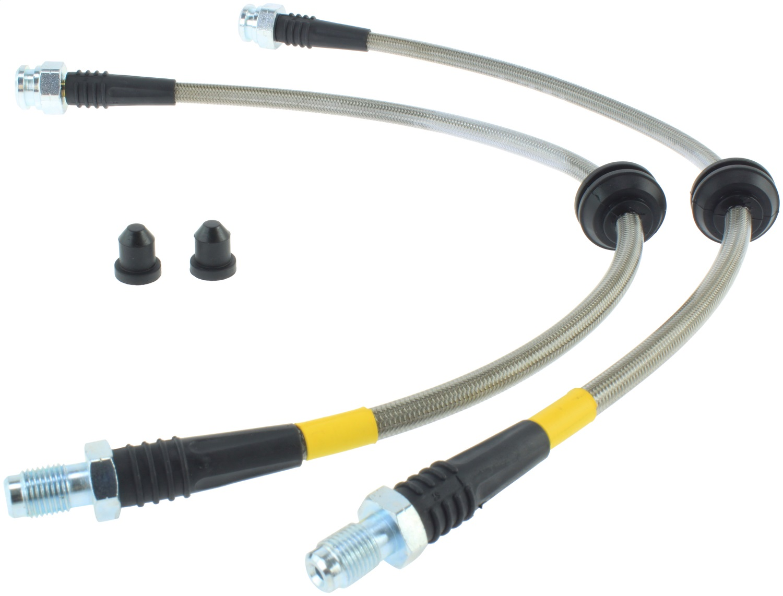 StopTech 950.61504 Stainless Steel Braided Brake Hose Kit Fits 3 C30 C70 S40 V50