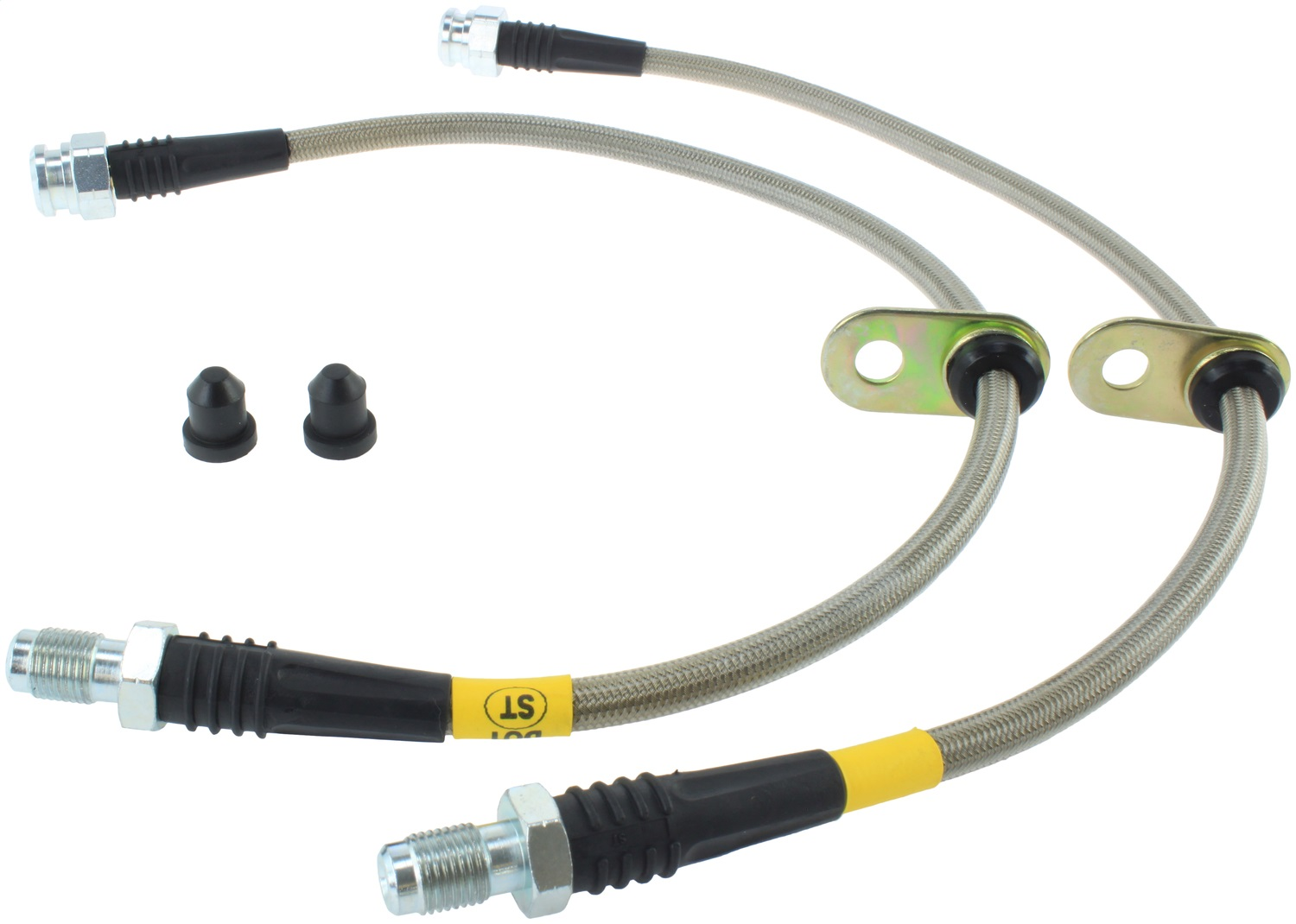 StopTech 950.61515 Stainless Steel Braided Brake Hose Kit Fits 14-19 Fiesta
