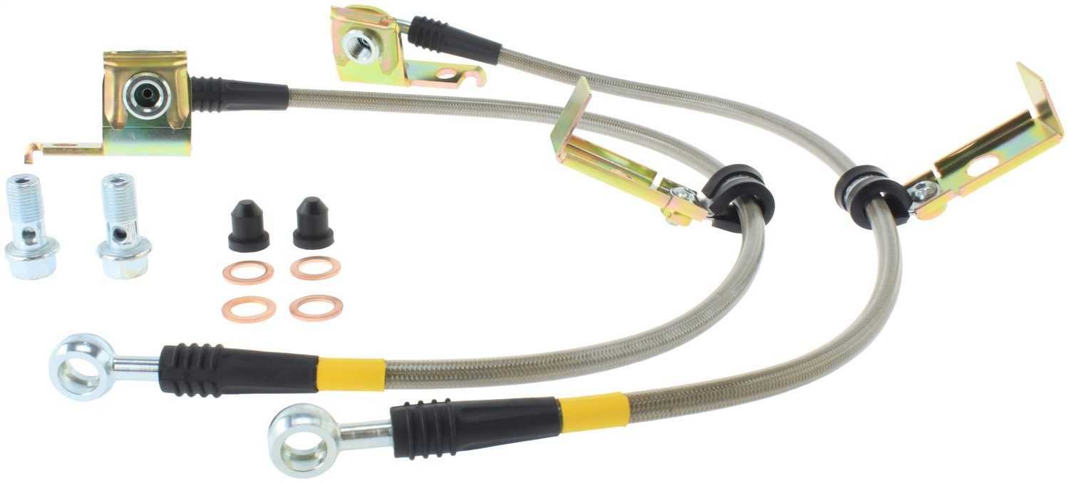 StopTech 950.63504 Stainless Steel Braided Brake Hose Kit Fits 92-00 Viper