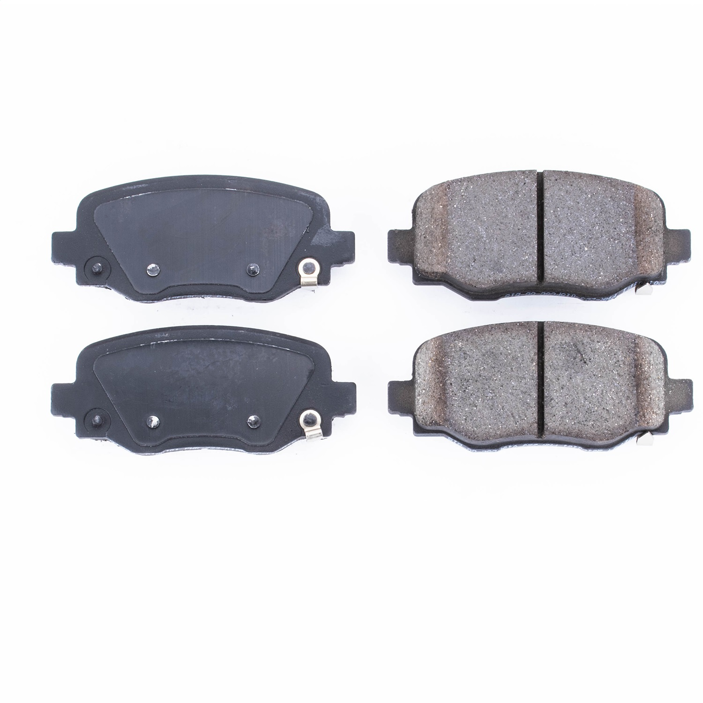 Bendix Premium Copper Free CFC1640AK2 Premium Copper Free Ceramic Brake Pad with Installation Hardware Front