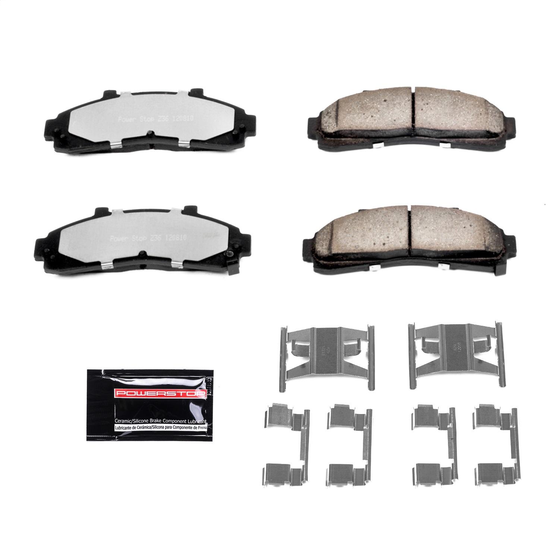 Disc Brake Pad Set-Evolution Ceramic Disc Brake Pad Front Power Stop 16-652