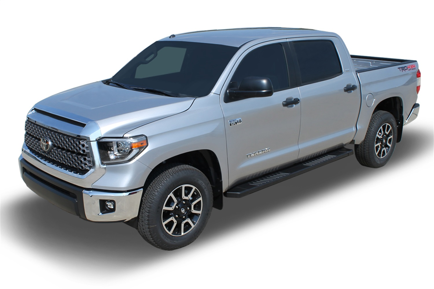 Raptor Series 1504-0281 4 inch Curved OE Style Stainless Side Bar Steps For 07-20 Toyota Tundra Double Cab