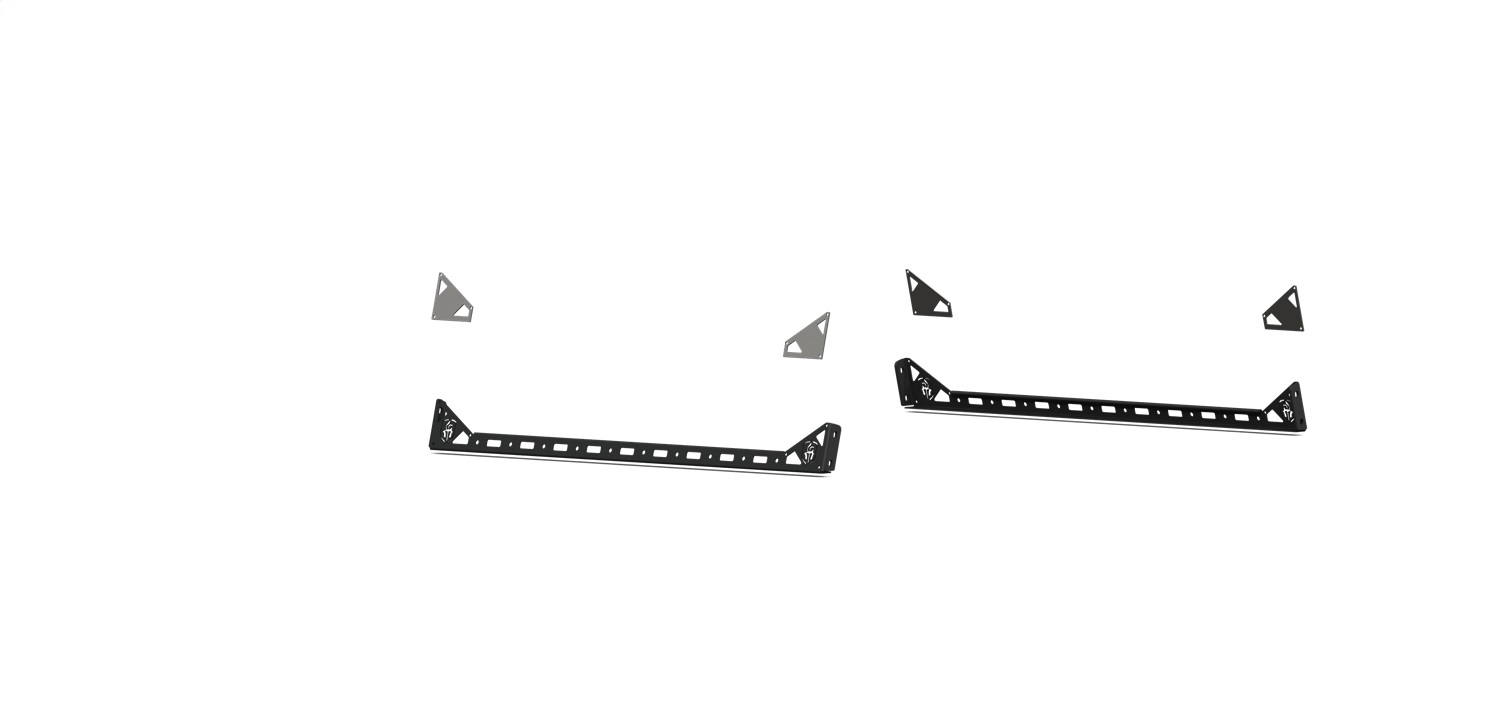 TRECK Rail Mount, 52 in. Bars, Dual Lower, 41.5 in. Accsessory Rail Mounts, Texture Black
