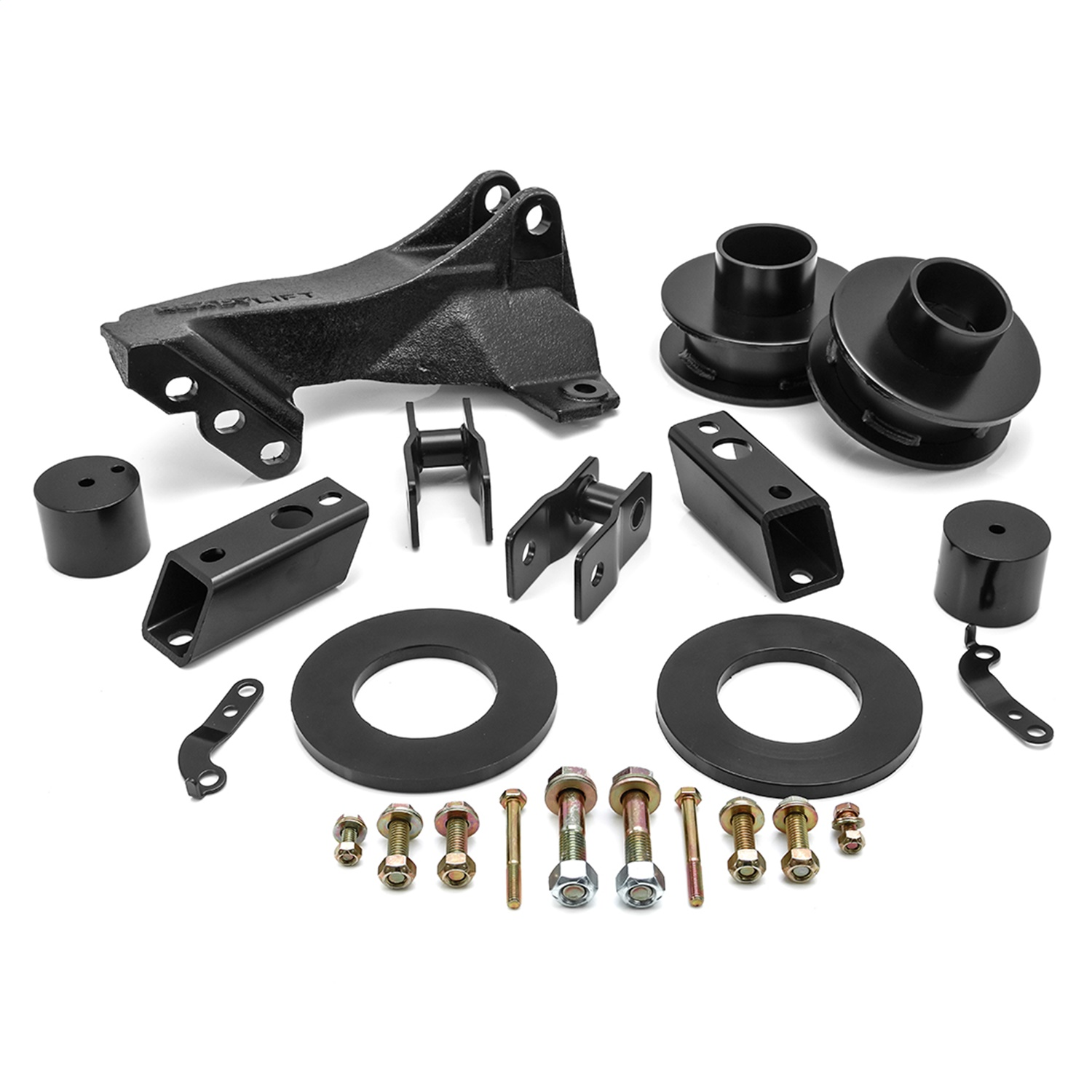 Spring Lift Kit, Front, 2.5 in. Coil Spacer/Incl. Track Bar Bracket
