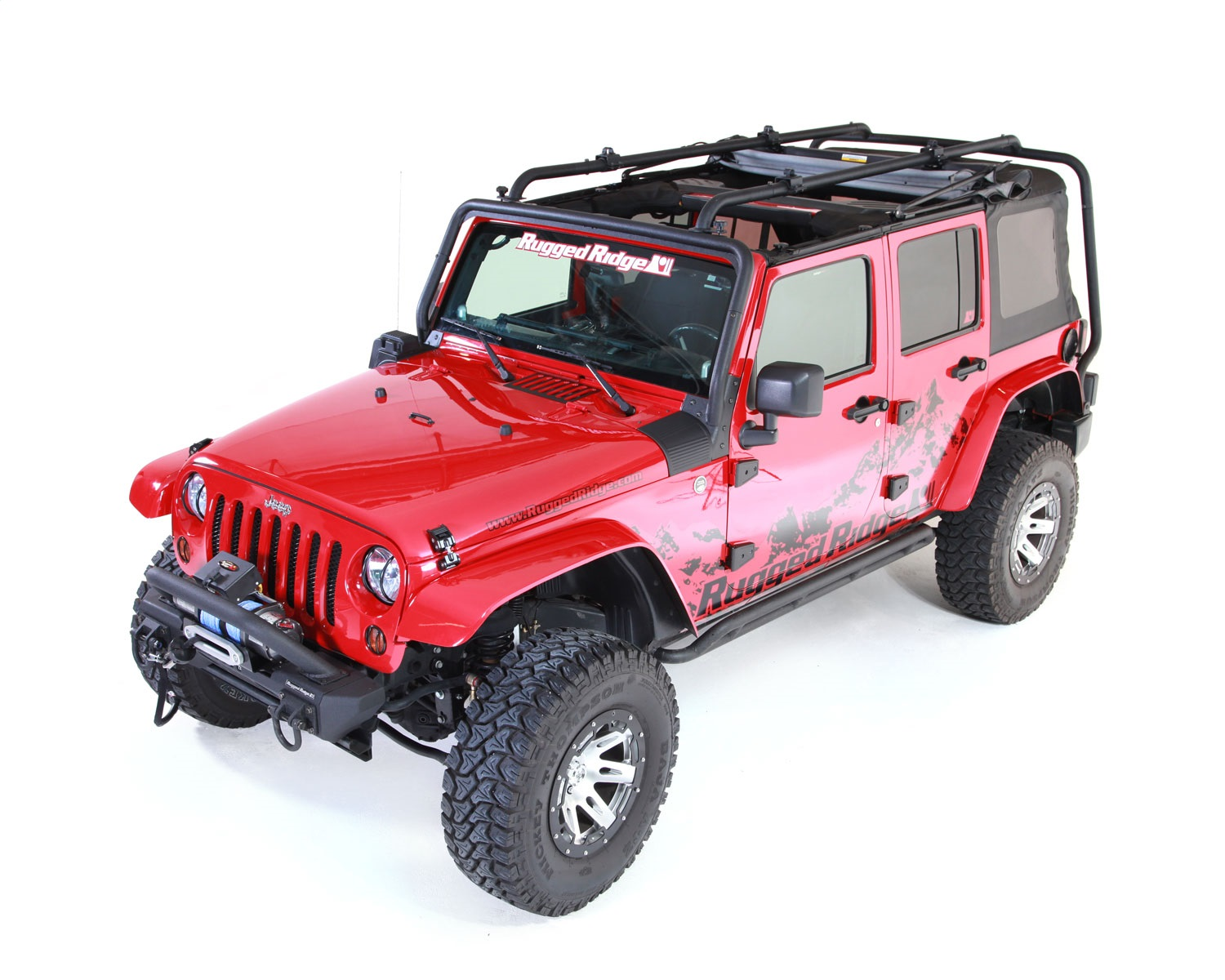 Rugged-Ridge-11703-02-Sherpa-Roof-Rack-Fits-07-18-Wrangler-JK