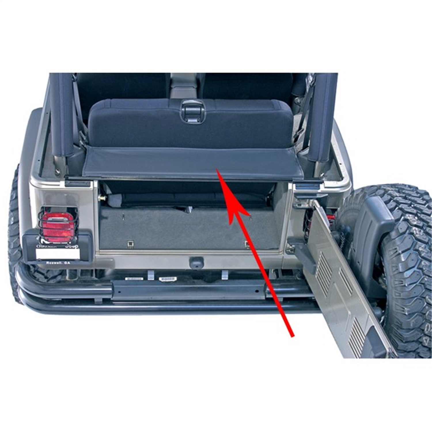 Rugged Ridge 13550 01 Replacement Tailgate Bar Tonneau Cover Fits Tj Wrangler Ebay