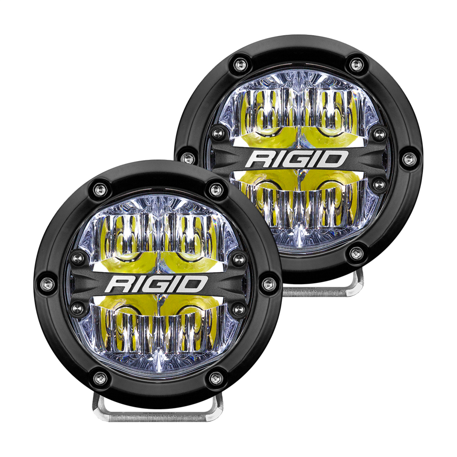 360-Series LED Off-Road Light, 4 in., Drive Beam, For Moderate Speed 20-50 MPH Plus, White Backlight, Pair