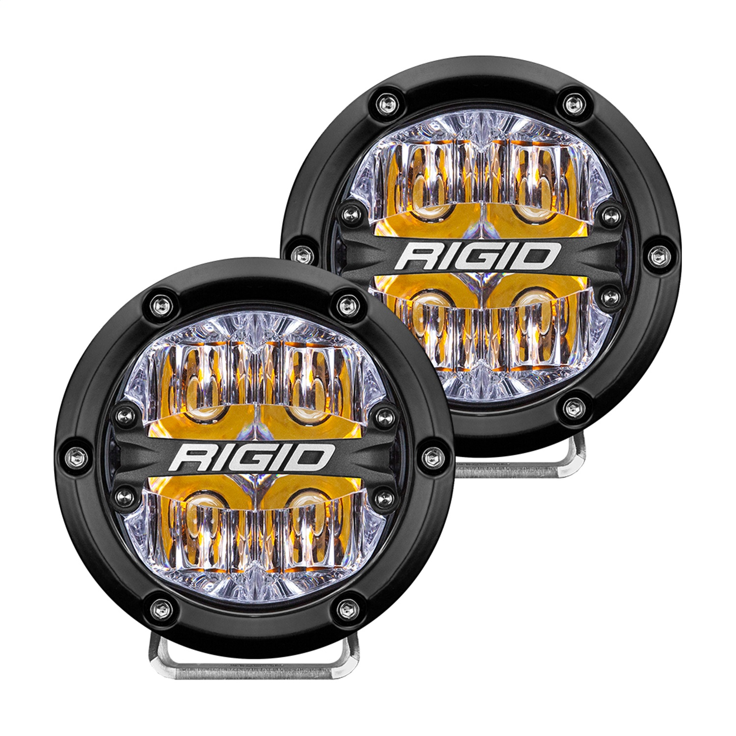 360-Series LED Off-Road Light, 4 in., Drive Beam, For Moderate Speed 20-50 MPH Plus, Amber Backlight, Pair