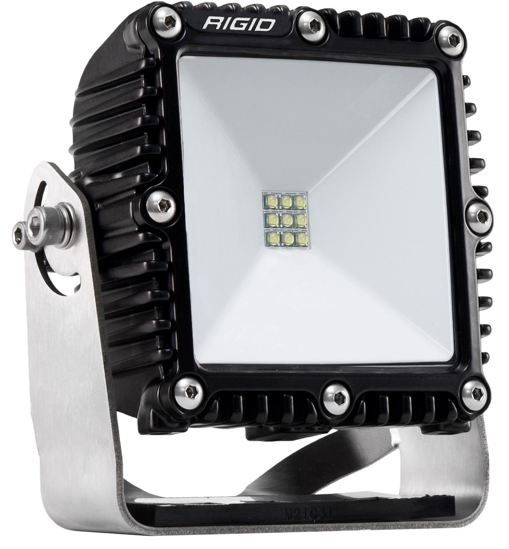 Scene LED Light, 4x4, Bolt Down Pole Mount Surface, 115 Deg., Black, DC Power, Single