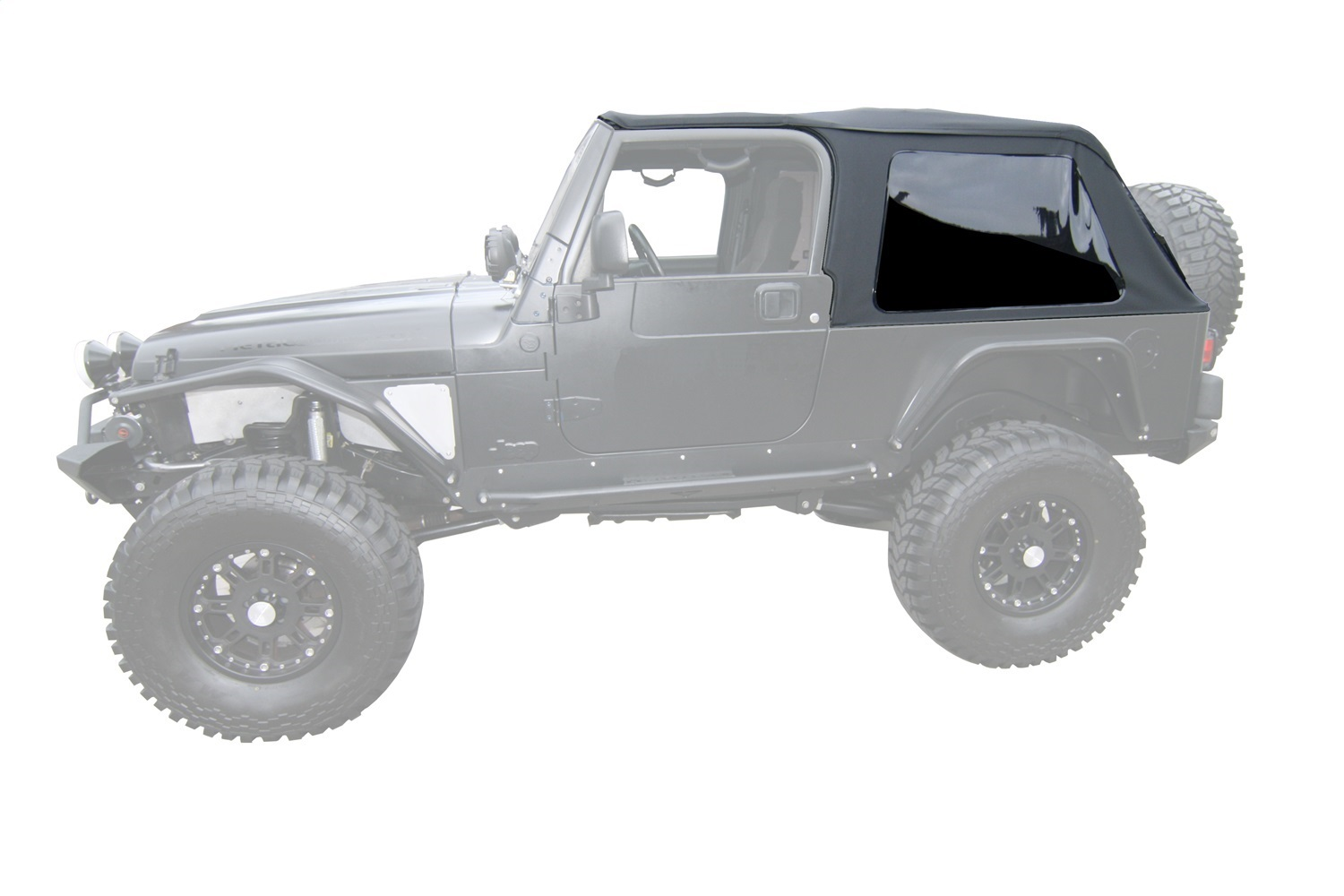 Rampage 109635 Frameless Soft Top Kit Sailcloth Fits 04-06 Wrangler ...